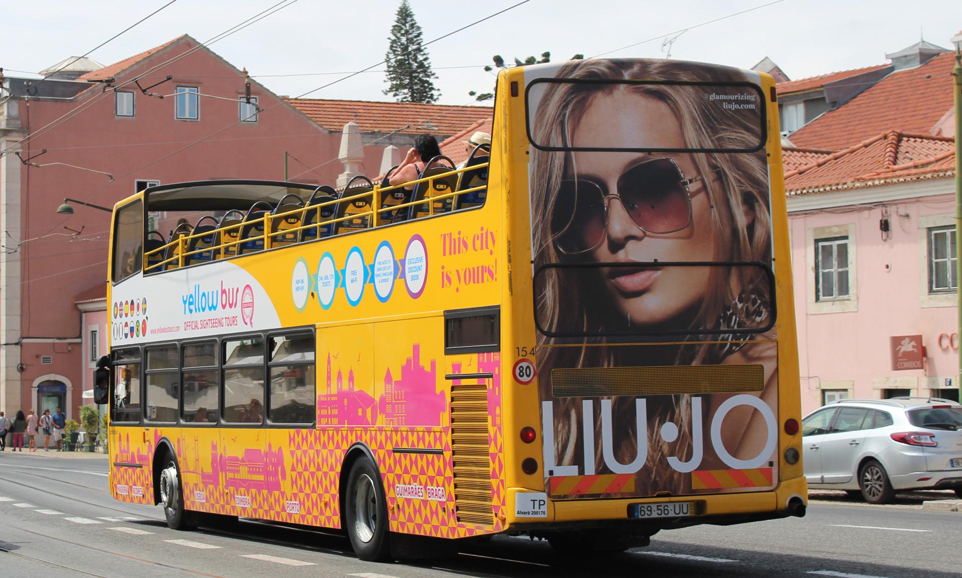 Lisbon Sightseeing bus advertising