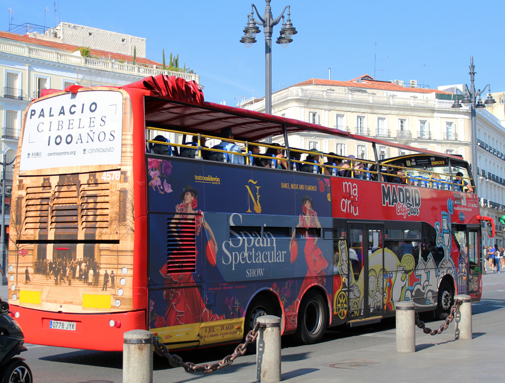 Madrid Sightseeing bus advertising